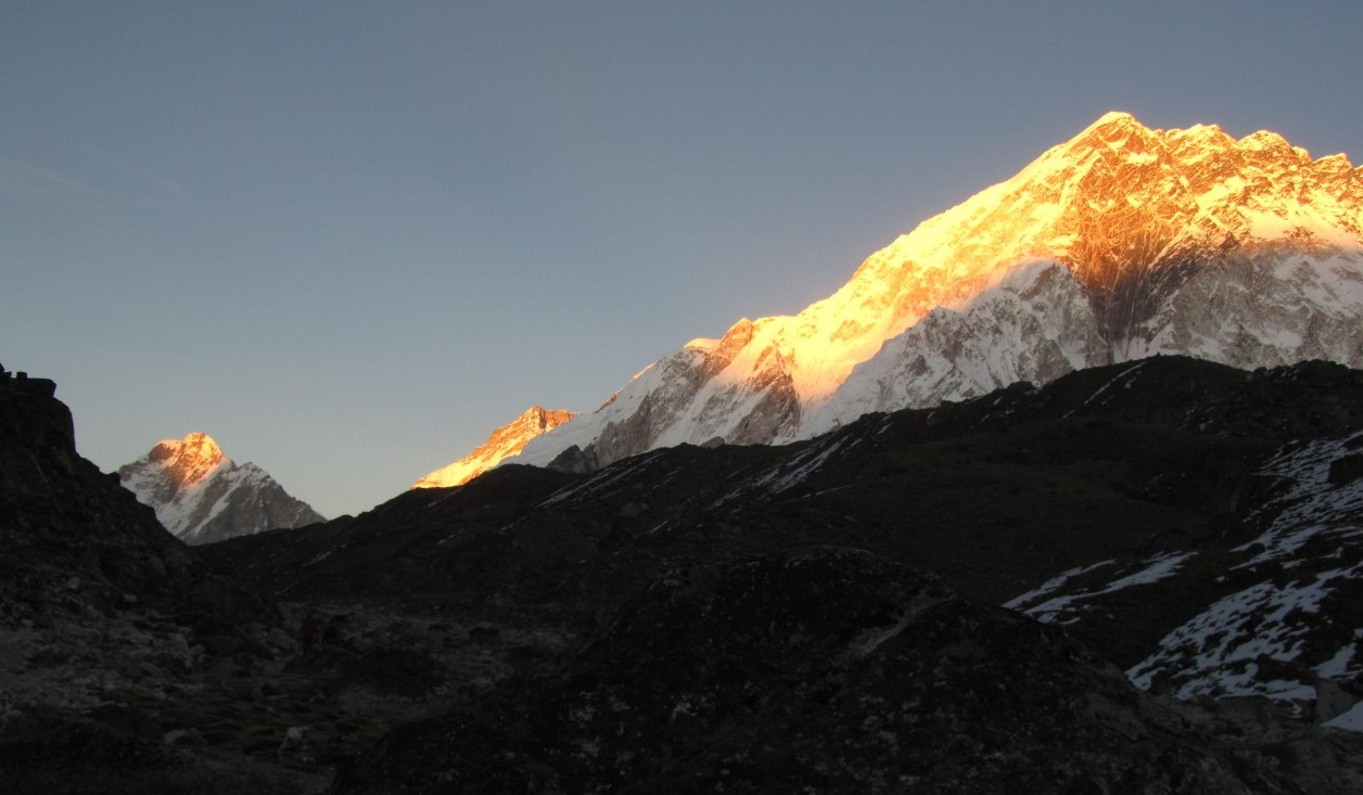 sunset in himalaya